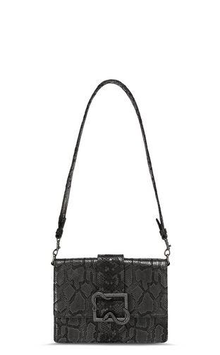 Shoulder bag with snake buckle