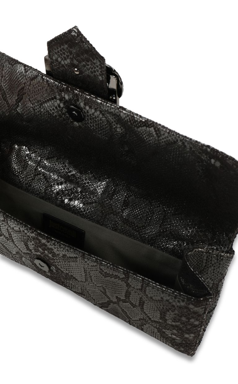 JUST CAVALLI Snake-buckle clutch Clutch Woman a