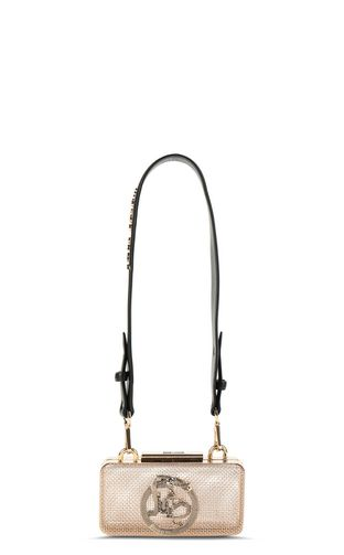 Shoulder bag in gold-tone metal