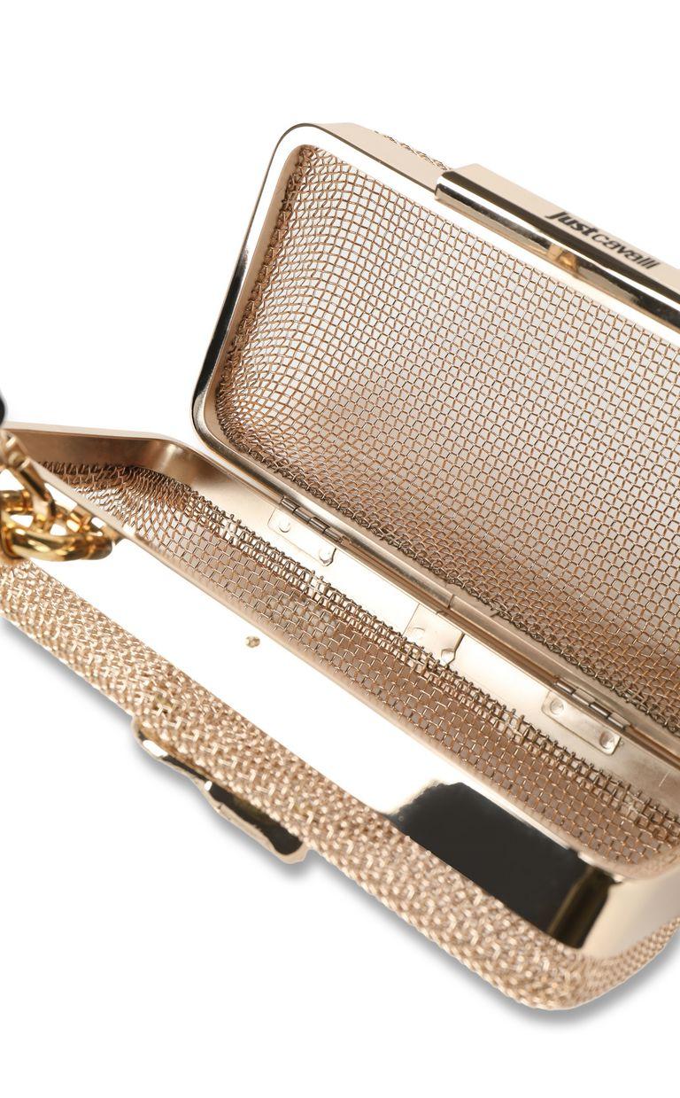 JUST CAVALLI Shoulder bag in gold-tone metal Crossbody Bag Woman a