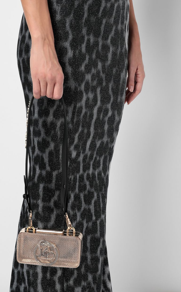 JUST CAVALLI Shoulder bag in gold-tone metal Crossbody Bag Woman d