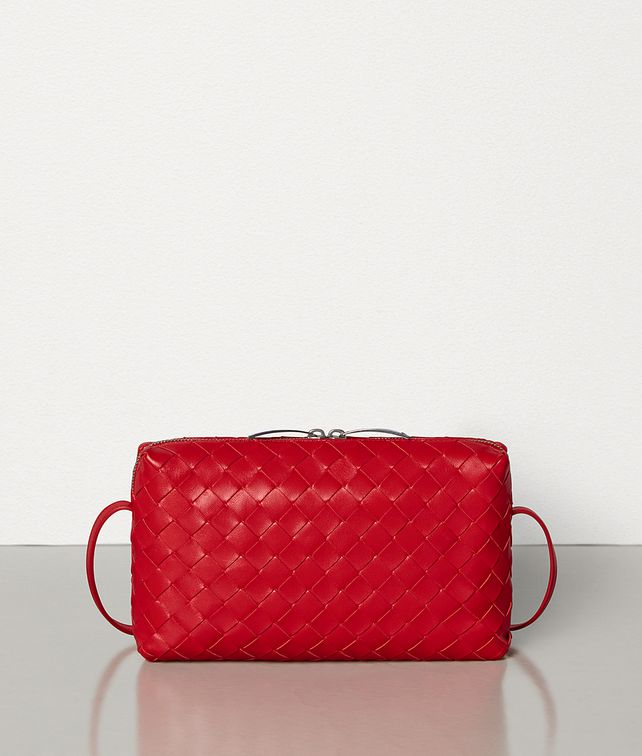 BOTTEGA VENETA SMALL CROSSBODY BAG IN INTRECCIATO NAPPA Crossbody and Belt Bags Woman fp