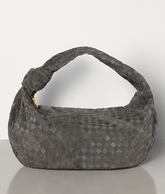 BOTTEGA VENETA LARGE BV JODIE IN INTRECCIATO CLOUDY SUEDE Shoulder Bag Woman fp