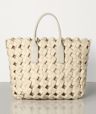 LARGE TOP HANDLE BAG IN INTRECCIATO CROCHET