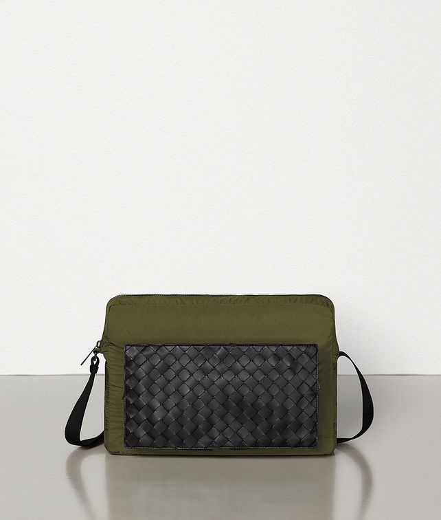 BOTTEGA VENETA MESSENGER BAG IN LIGHT PAPER NYLON Messenger Bag Man fp