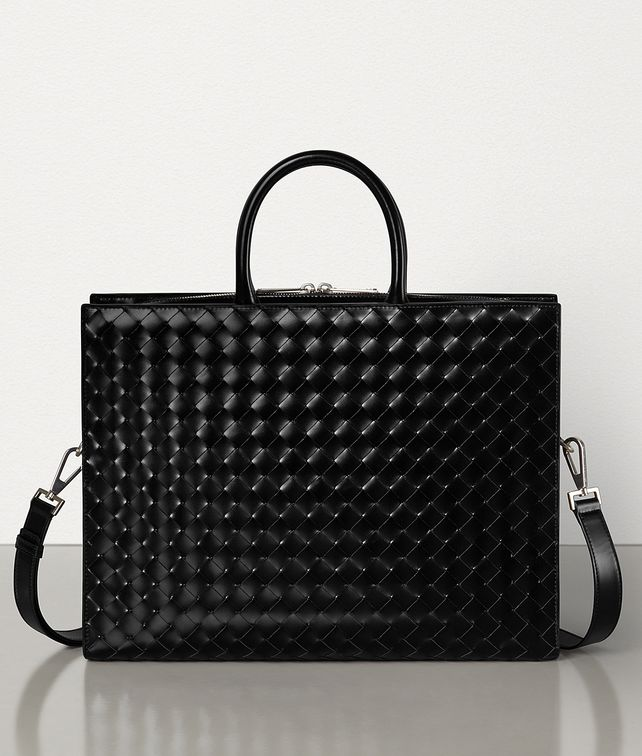 BOTTEGA VENETA BRIEFCASE IN INTRECCIATO SPAZZOLATO CALFSKIN Business bag Man fp