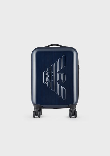 Suitcase in ABS with embossed logo and TSA closure