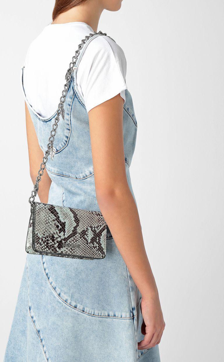 JUST CAVALLI Python-print bag with chain Crossbody Bag Woman d