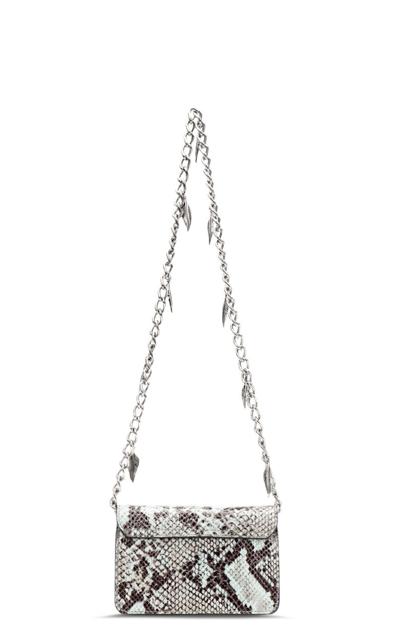 JUST CAVALLI Python-print bag with chain Crossbody Bag Woman e