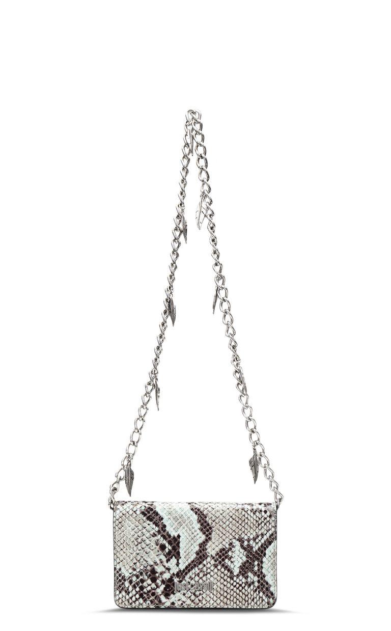 JUST CAVALLI Python-print bag with chain Crossbody Bag Woman f