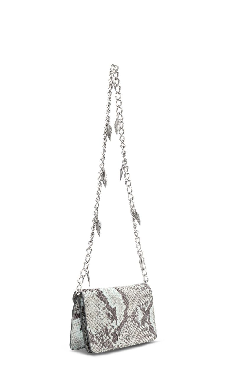 JUST CAVALLI Python-print bag with chain Crossbody Bag Woman r