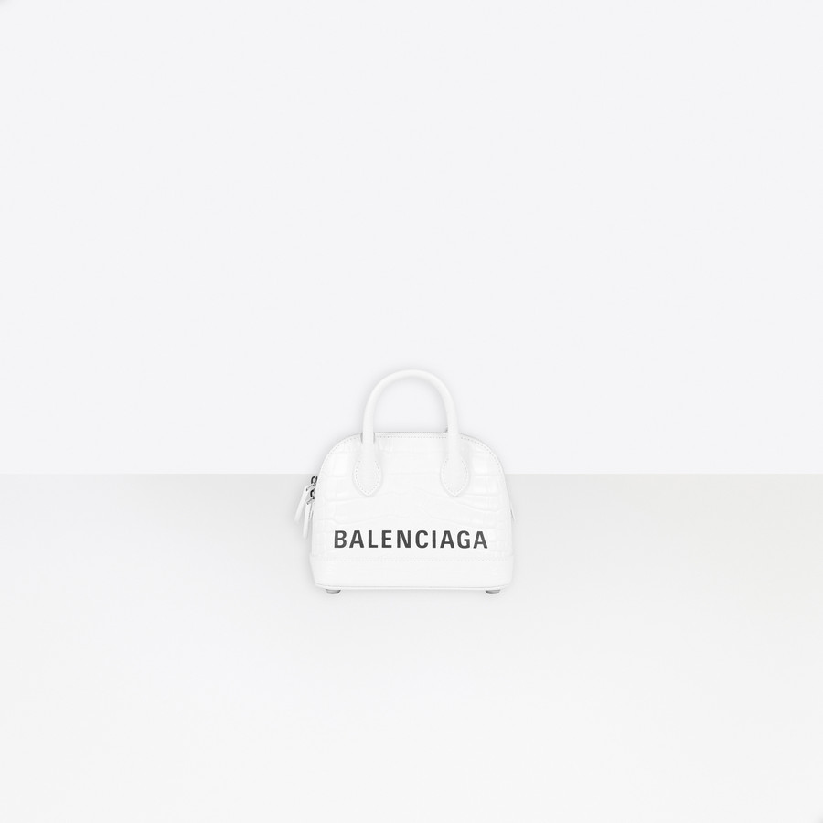 Ville XXS Top Handle Bag WHITE/BLACK
