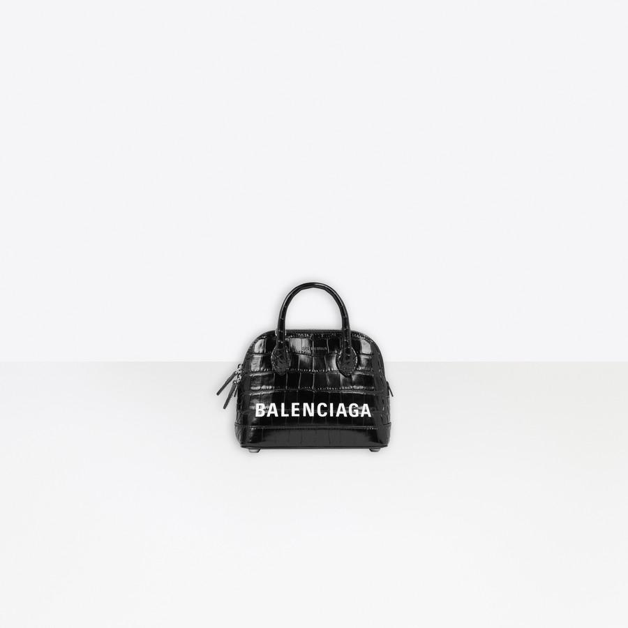 Ville XXS Top Handle Bag BLACK / WHITE