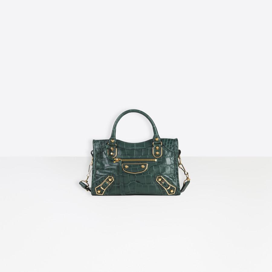 Metallic Edge Mini City Shoulder Bag