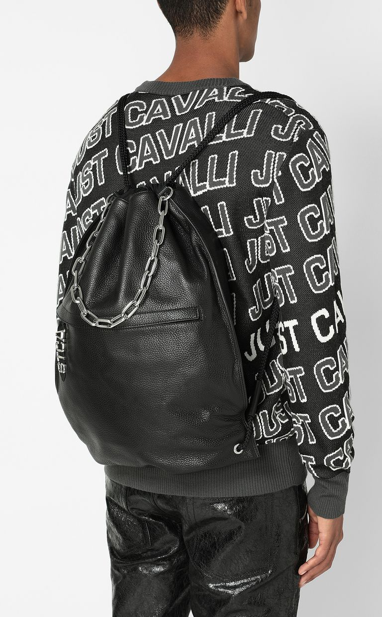 JUST CAVALLI Leather backpack Backpack Man d