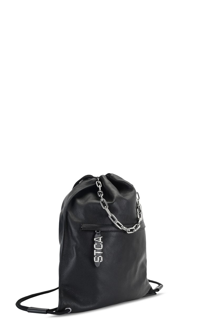 JUST CAVALLI Leather backpack Backpack Man r