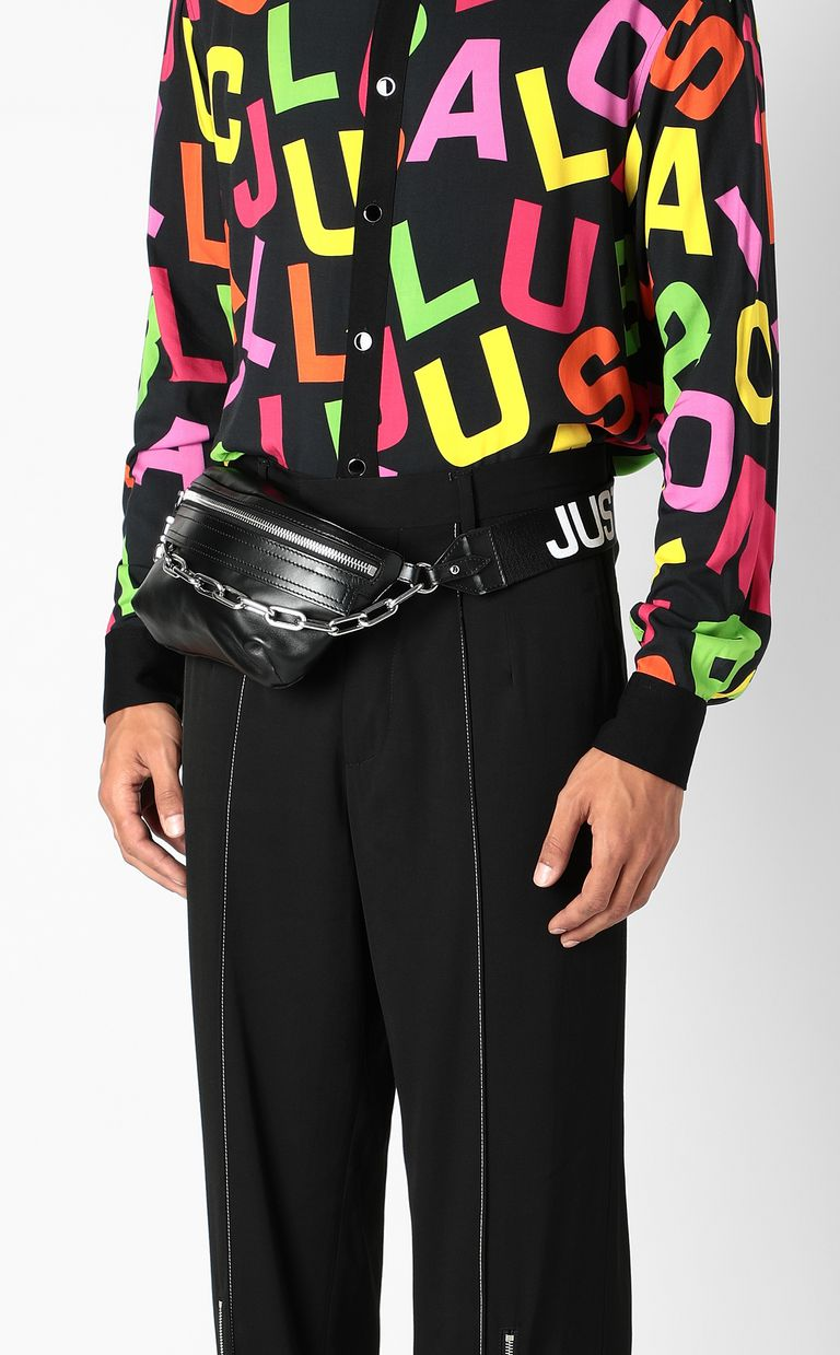 JUST CAVALLI Belt bag with STCA logo Crossbody Bag Man d