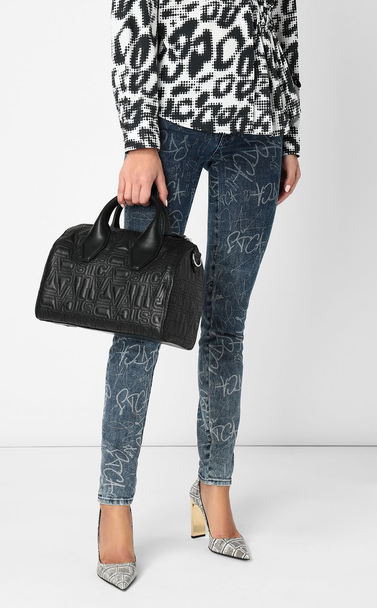 JUST CAVALLI Boston bag in quilted leather Crossbody Bag Woman d