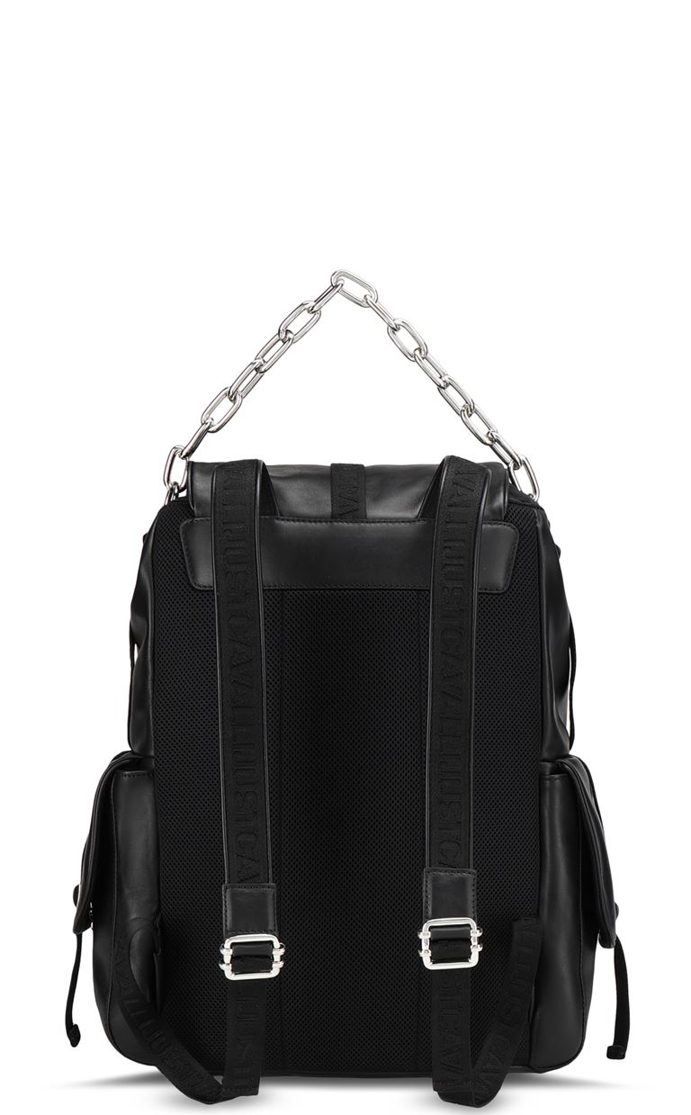 JUST CAVALLI Leather backpack Backpack Man e