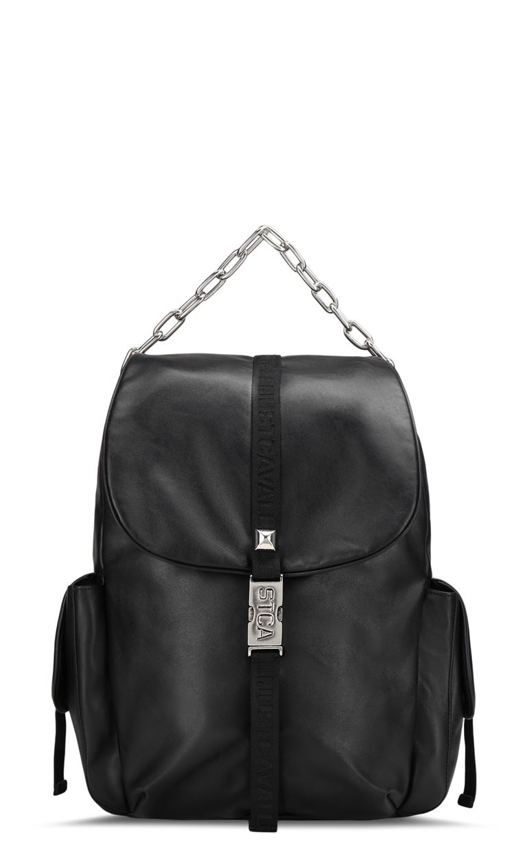 JUST CAVALLI Leather backpack Backpack Man f