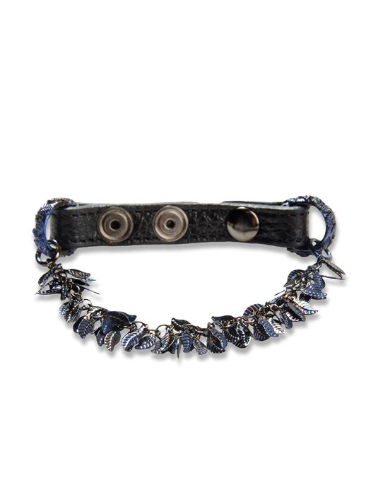 DIESEL BLACK GOLD LEAVE_LEATHER-BRACEL Pulsera U f