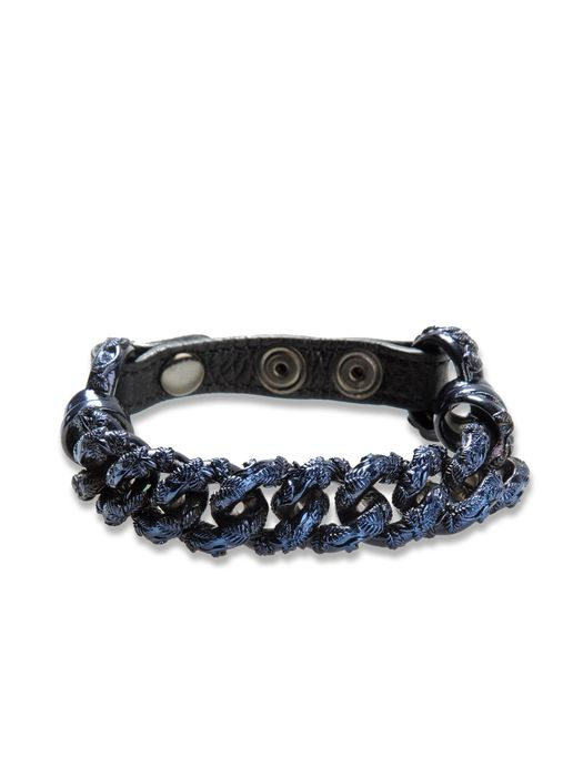 DIESEL BLACK GOLD CHAIN_LEATHER-BRACEL Pulsera U f