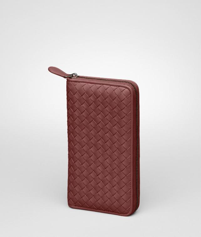 BOTTEGA VENETA Nero Intrecciato Nappa Zip Around Wallet Zip Around Wallet D fp