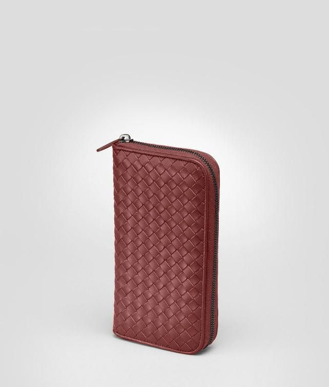 BOTTEGA VENETA ZIP AROUND WALLET IN LIGHT TOURMALINE INTRECCIATO VN Zip Around Wallet U fp