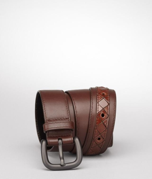 BOTTEGA VENETA Light Calf Intreccio Scolpito Belt Belt U fp