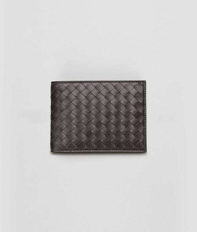 BOTTEGA VENETA Portemonnaie aus VN-Leder Intrecciato Ebano Faltbares Portemonnaie U fp