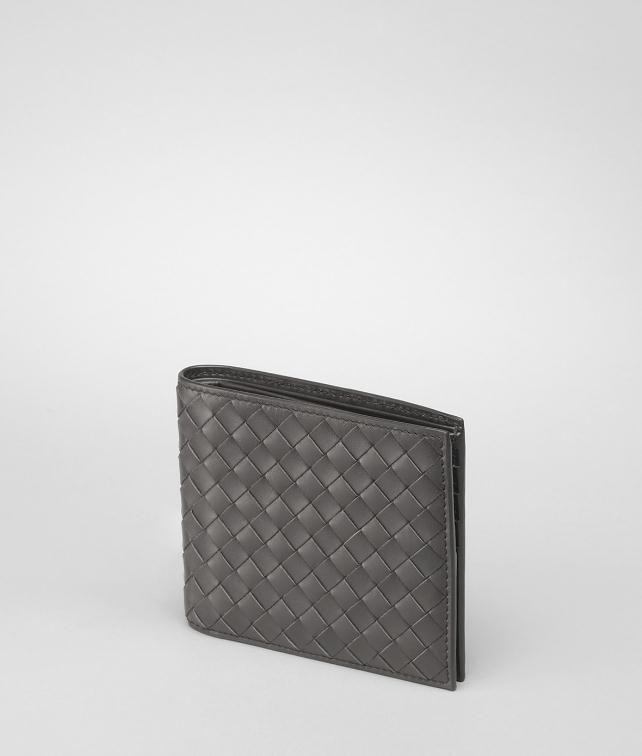 BOTTEGA VENETA BI-FOLD WALLET IN NERO INTRECCIATO VN Bi-fold Wallet U fp