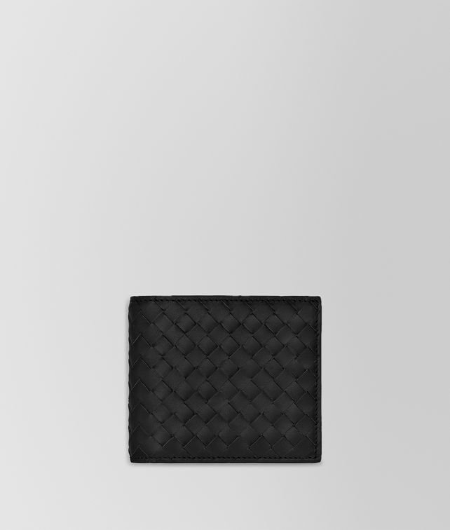 BOTTEGA VENETA BI-FOLD WALLET IN NERO INTRECCIATO VN Small Wallet Man fp