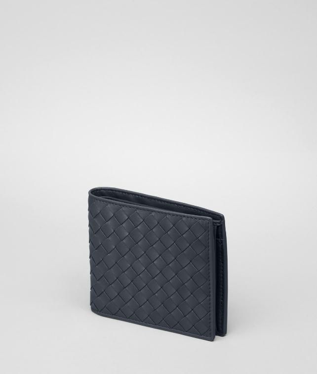 BOTTEGA VENETA BI-FOLD WALLET WITH COIN PURSE IN NERO INTRECCIATO VN Bi-fold Wallet U fp