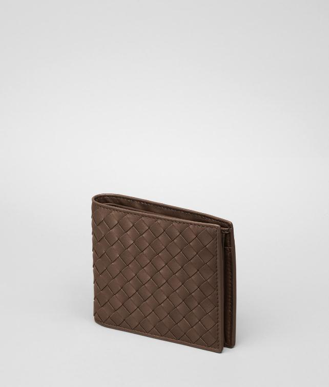 BOTTEGA VENETA BI-FOLD WALLET WITH COIN PURSE IN NERO INTRECCIATO VN Bi-fold Wallet U fp