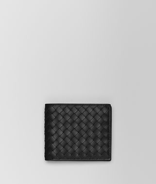 BI-FOLD WALLET WITH COIN PURSE IN NERO INTRECCIATO VN