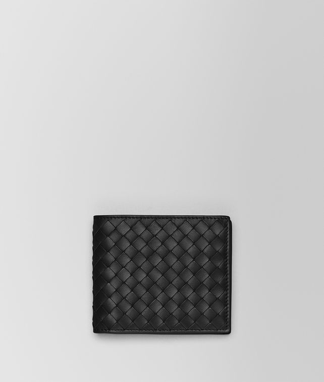 BOTTEGA VENETA BI-FOLD WALLET WITH COIN PURSE IN NERO INTRECCIATO VN Bi-fold Wallet Man fp