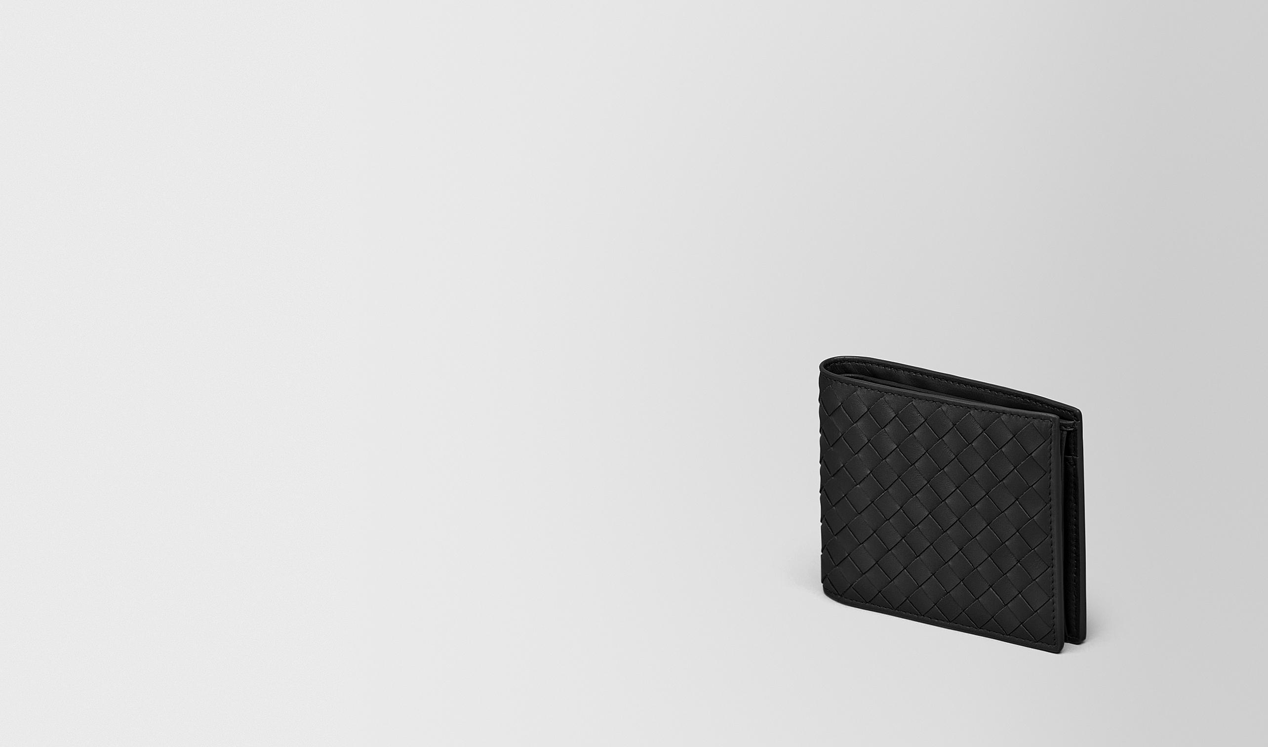BOTTEGA VENETA Bi-fold Wallet U BI-FOLD WALLET WITH COIN PURSE IN NERO INTRECCIATO VN pl