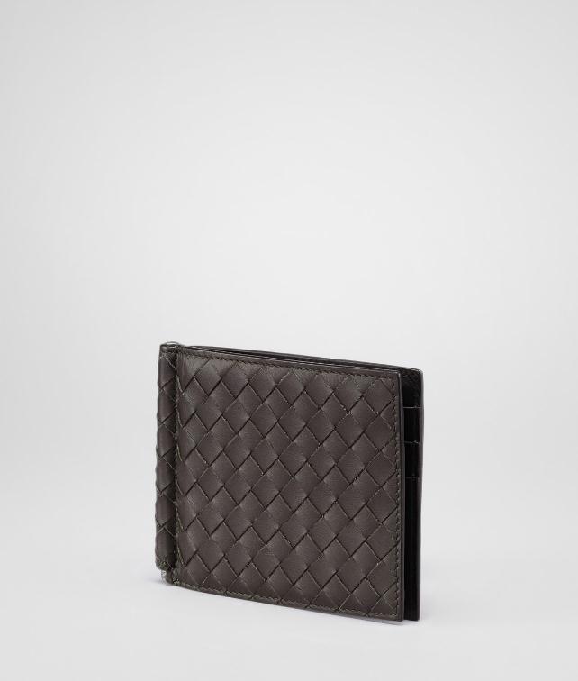 BOTTEGA VENETA BI-FOLD WALLET WITH MONEY CLIP IN NERO INTRECCIATO VN Bi-fold Wallet U fp
