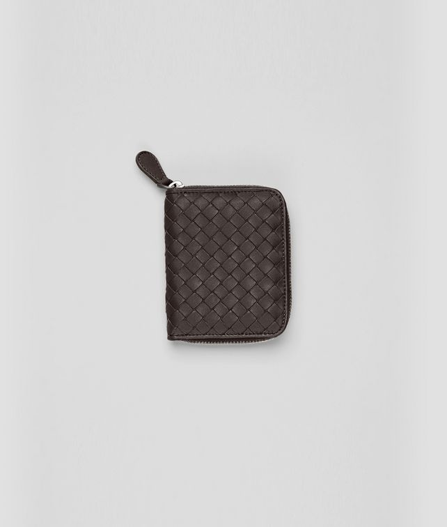 BOTTEGA VENETA Ebano Intrecciato Nappa Coin Purse Mini Wallet or Coin Purse D fp