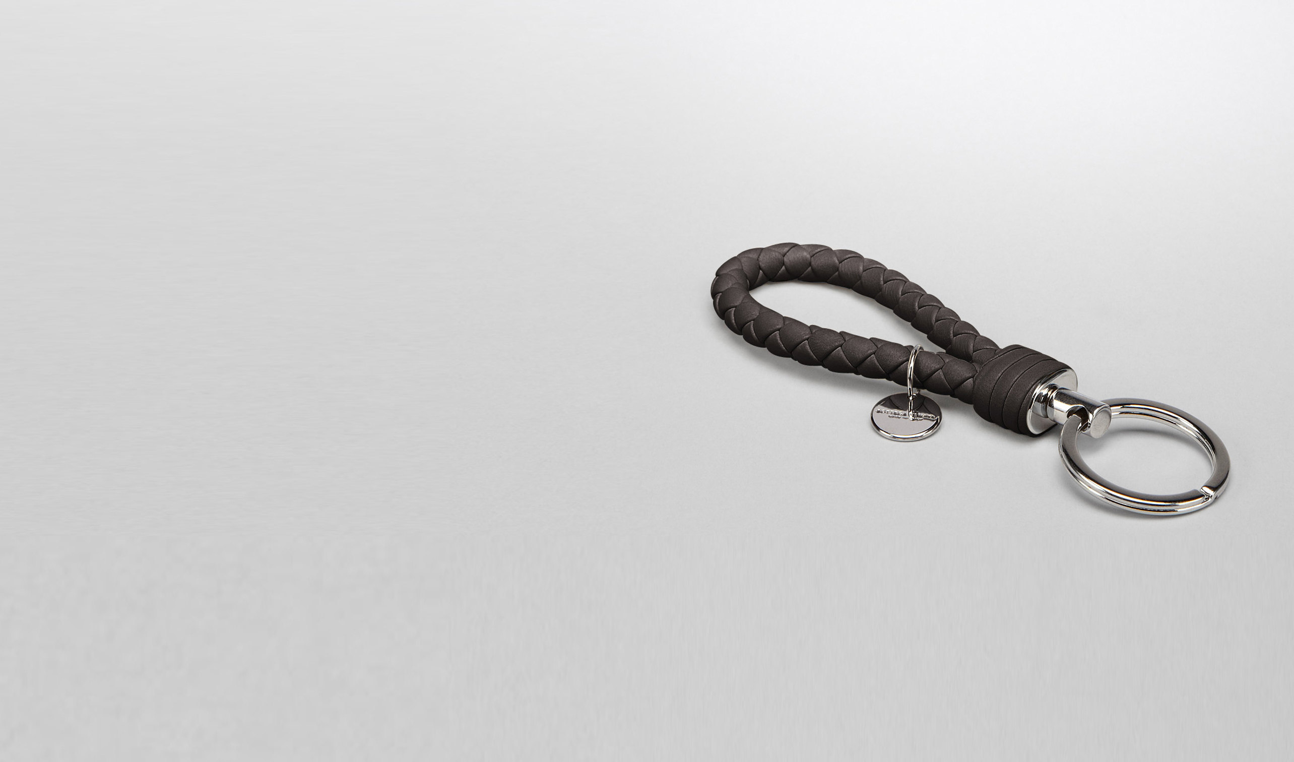 BOTTEGA VENETA Keyring or Bracelets E SHADOW INTRECCIATO NAPPA KEY RING pl