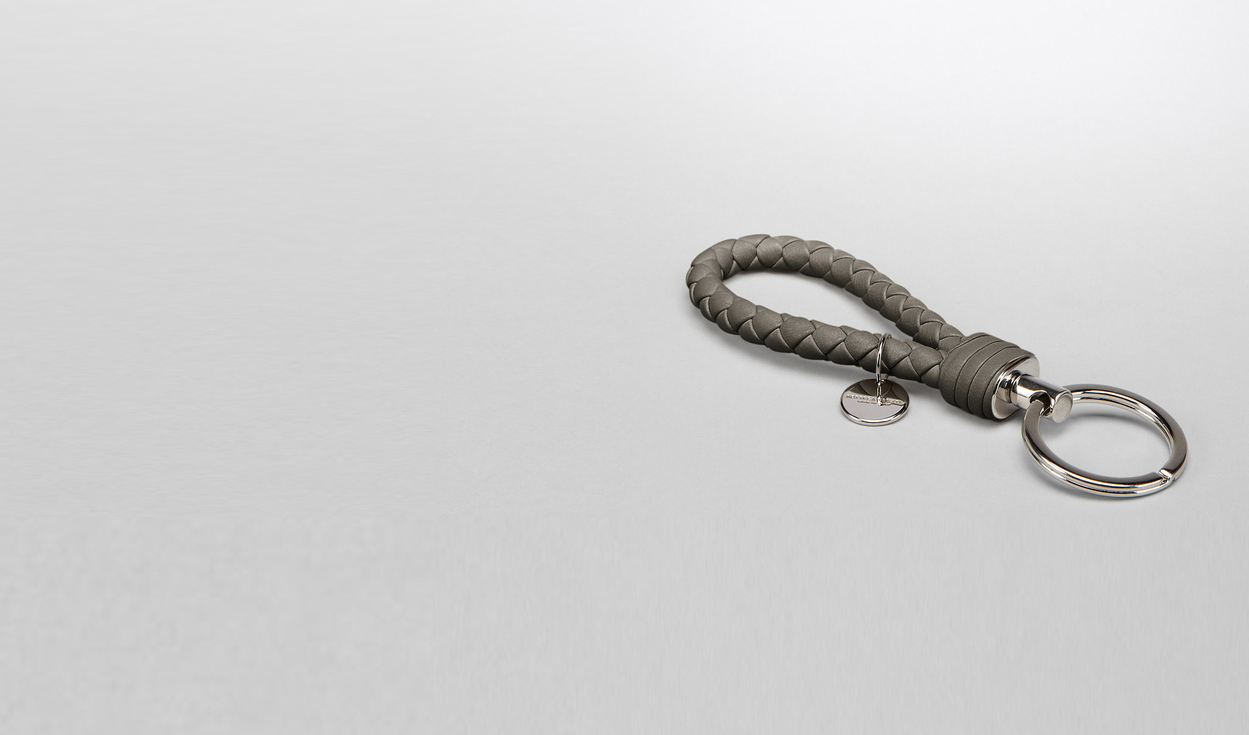 BOTTEGA VENETA Keyring or Bracelets E Ebano Intrecciato Nappa Key Ring pl