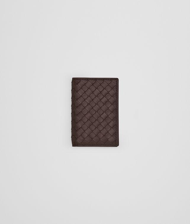 BOTTEGA VENETA Porte-cartes intrecciato VN ebano Porte-cartes et porte-monnaie U fp