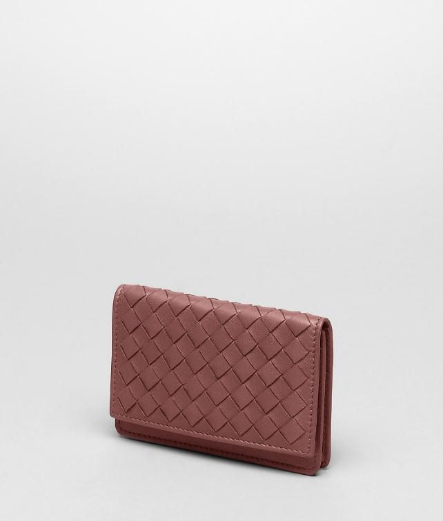 BOTTEGA VENETA CARD CASE IN NERO INTRECCIATO NAPPA Card Case or Coin Purse U fp