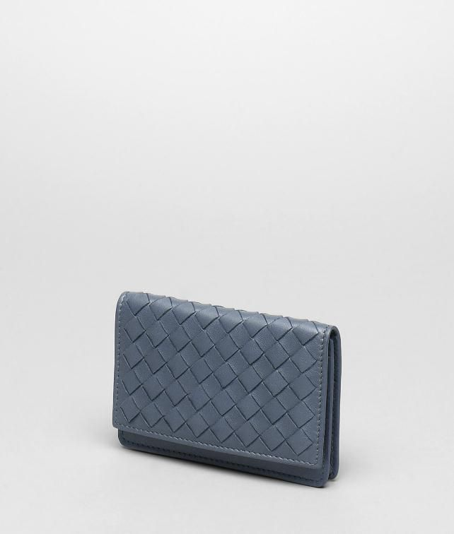 BOTTEGA VENETA NERO INTRECCIATO NAPPA CARD CASE Card Case or Coin Purse U fp