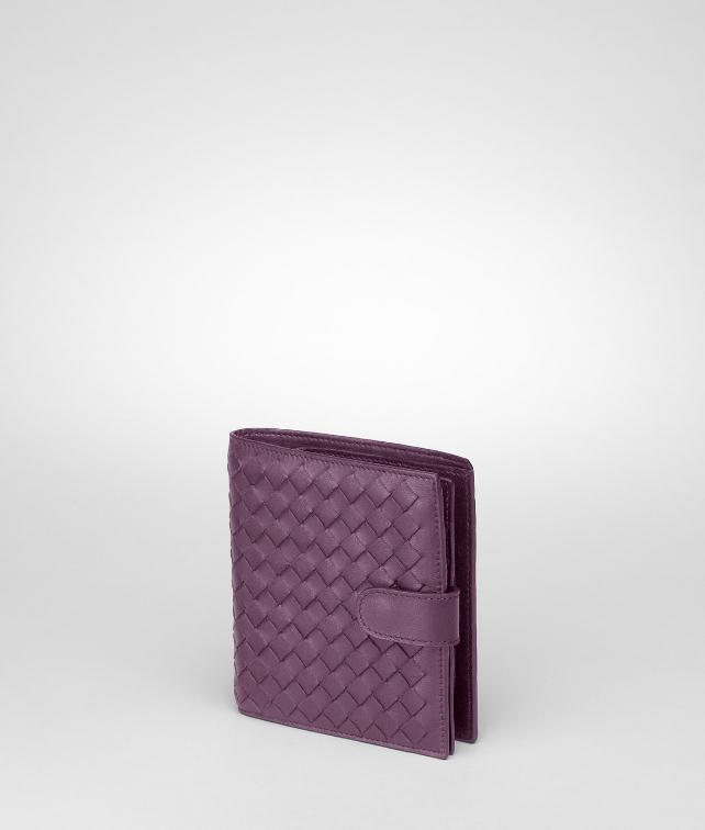 BOTTEGA VENETA Nero Intrecciato Nappa French Flap Wallet Mini Wallet or Coin Purse D fp
