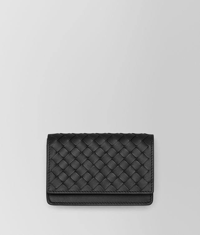 BOTTEGA VENETA CARD CASE IN NERO INTRECCIATO VN Card Case or Coin Purse U fp