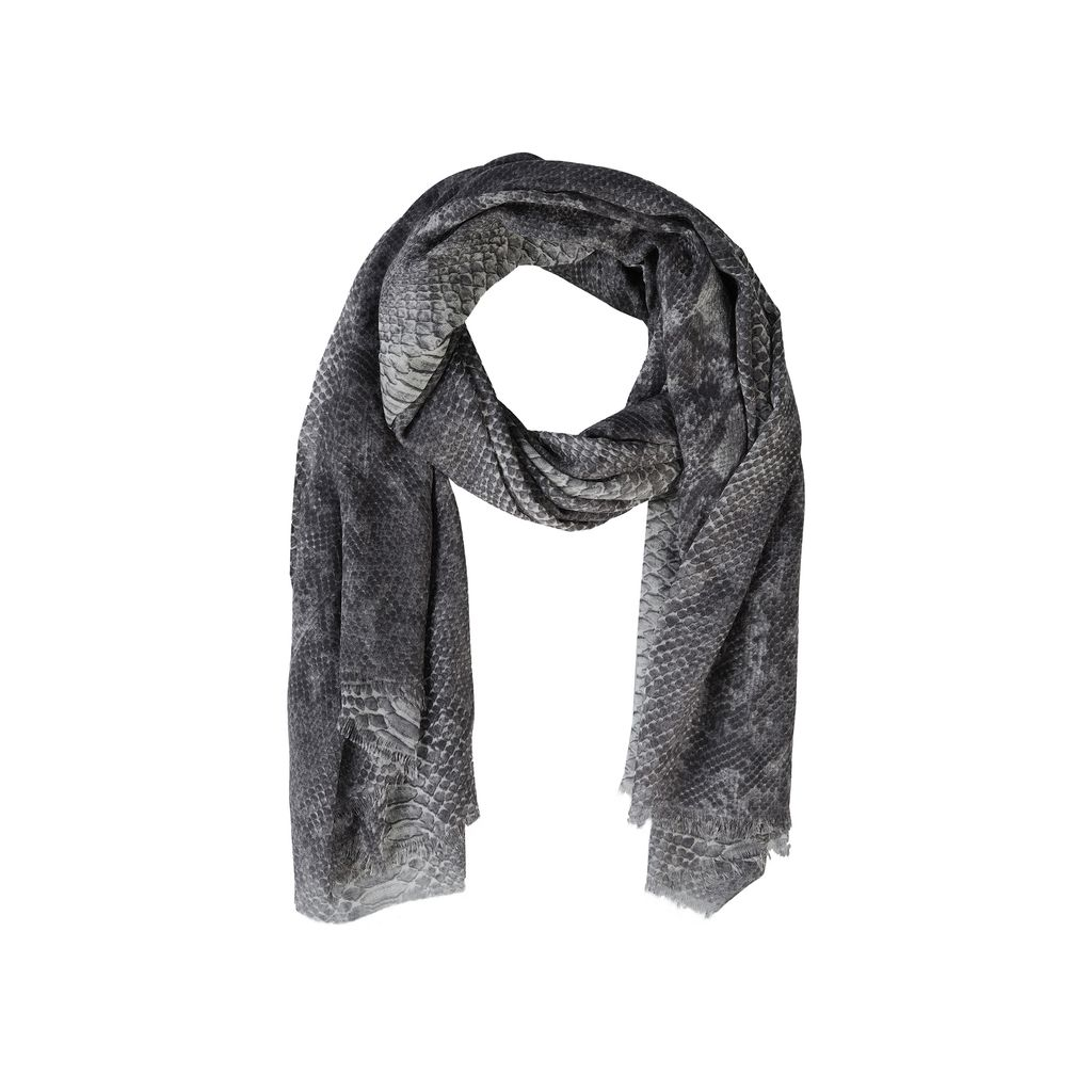 Python print silk Mix scarf  - STELLA MCCARTNEY