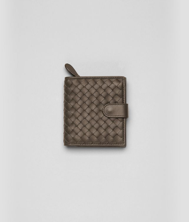 BOTTEGA VENETA Edoardo Intrecciato Nappa Bi-Fold Wallet Mini Wallet or Coin Purse D fp
