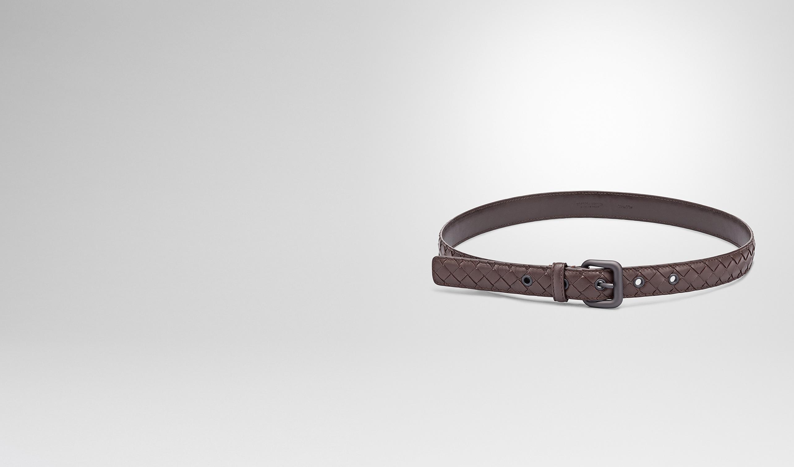 BOTTEGA VENETA Belt D Ebano Intrecciato Nappa Belt pl