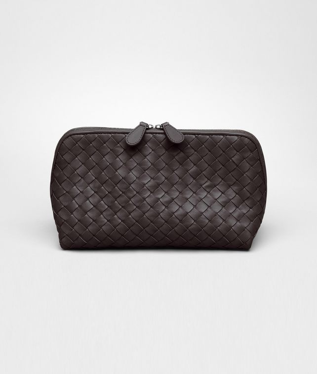 BOTTEGA VENETA Beauty Case Ebano in Nappa Intrecciata Altro accessorio in pelle D fp